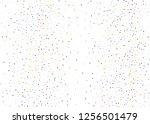 elegant pattern with polka dots ... | Shutterstock .eps vector #1256501479