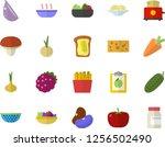 color flat icon set colander... | Shutterstock .eps vector #1256502490