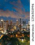 cityscape bangkok skyline at... | Shutterstock . vector #1256503996