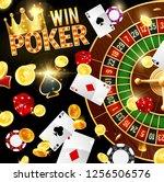 poker  casino and gambling ... | Shutterstock .eps vector #1256506576