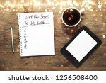 new year motivation in 2019... | Shutterstock . vector #1256508400