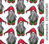 vector seamless pattern with... | Shutterstock .eps vector #1256509360