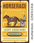 harness racing equestrian sport ... | Shutterstock .eps vector #1256511316