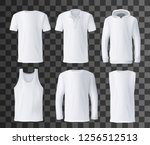 t shirt template with front... | Shutterstock .eps vector #1256512513