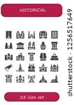vector icons pack of 25 filled... | Shutterstock .eps vector #1256517649