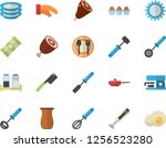 color flat icon set frying pan... | Shutterstock .eps vector #1256523280