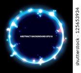 blue ring. frame background.... | Shutterstock .eps vector #125653934
