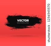 abstract grunge banner. brush... | Shutterstock .eps vector #1256545570