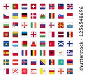set of all european country... | Shutterstock .eps vector #1256548696