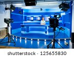 a television announcer at... | Shutterstock . vector #125655830