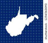 vector map of west virginia   Shutterstock .eps vector #1256563093