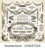 vector set of calligraphic... | Shutterstock .eps vector #125657120