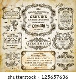 vector set of calligraphic... | Shutterstock .eps vector #125657636