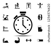 the stopwatch icon. simple...