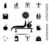 the bench press exercise icon....