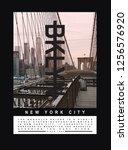 photo print brooklyn bridge...   Shutterstock . vector #1256576920