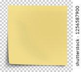 office yellow paper sticker... | Shutterstock .eps vector #1256587900