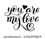 you are my love hand written... | Shutterstock . vector #1256595829