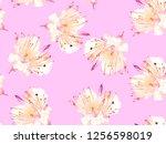 Bold Flower Pattern. Big Jungle ...