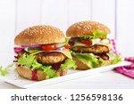tasty grilled homemade...   Shutterstock . vector #1256598136