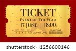 admission golden ticket... | Shutterstock .eps vector #1256600146
