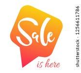 vector illustration  sale... | Shutterstock .eps vector #1256611786