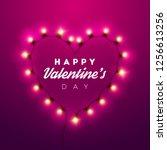 valentines day background.... | Shutterstock .eps vector #1256613256