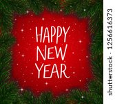 happy new year wishes... | Shutterstock . vector #1256616373