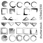set of geometric elements | Shutterstock .eps vector #125662550