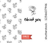 greeting card with text  thank... | Shutterstock .eps vector #1256637946