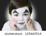 ni    o de mimo   Shutterstock . vector #125665514