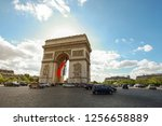 paris  france   may 16 2015 ... | Shutterstock . vector #1256658889