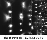 christmas lights on strings | Shutterstock . vector #1256659843