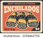 enchiladas mexican fast food...   Shutterstock .eps vector #1256662753