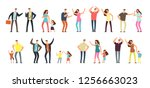 family and professional... | Shutterstock . vector #1256663023