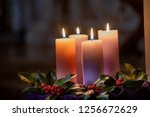 Colorful Candles Lit In The...