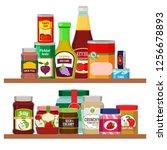 supermarket foods. grocery... | Shutterstock . vector #1256678893