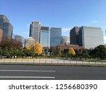 view of modern building... | Shutterstock . vector #1256680390