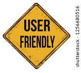 user friendly vintage rusty...   Shutterstock .eps vector #1256680516