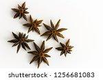 anise stars isolated on white    Shutterstock . vector #1256681083
