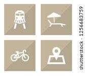 set of 4 journey icons set....   Shutterstock . vector #1256683759