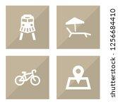 set of 4 journey icons set....   Shutterstock .eps vector #1256684410