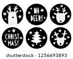 cute round shape christmas... | Shutterstock .eps vector #1256693893