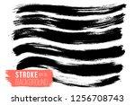 hand drawn wavy striped pattern....   Shutterstock .eps vector #1256708743