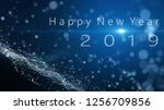 the particle merges into a...   Shutterstock . vector #1256709856