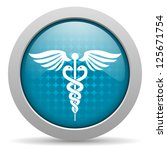 blue circle glossy web icon...   Shutterstock . vector #125671754