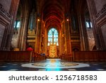 liverpool  uk   may 16 2018 ... | Shutterstock . vector #1256718583