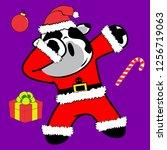 dab dabbing pose cow xmas claus ... | Shutterstock .eps vector #1256719063