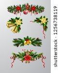 christmas elements for your... | Shutterstock .eps vector #1256738119