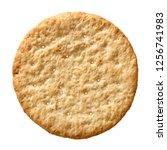 top view wheat cracker. a... | Shutterstock . vector #1256741983